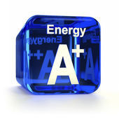 Energy Efficiency Rating A+ — Stock Photo