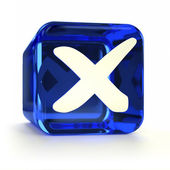 Blue Cross Mark Icon — Stock Photo