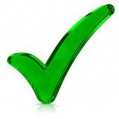 Green Check Mark Symbol — Stock Photo