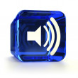 Blue Sound On Icon — Stock Photo #12064278