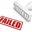Stock Photo: Failed Rubber Stamp