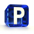 Stock Photo: Blue Parking Sign Icon
