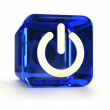 Blue Power On Icon — Stock Photo