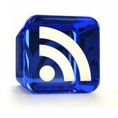 Blauwe rss-icoon — Stockfoto