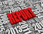 Red Annual Report — Stock Photo