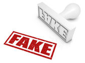 Fake Rubber Stamp — Stock Photo