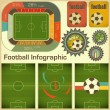 Royalty-Free Stock Vektorfiler: Football Infographic Elements