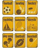 Sport grunge signs — Stock Vector
