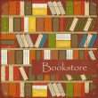 Vintage Bookstore Background — Stock Vector #10920609