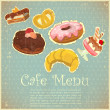 Vintage Cover Cafe or confectionery Menu — Stock Vector #10920649