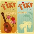Royalty-Free Stock Vector Image: Two cards for Tiki bars