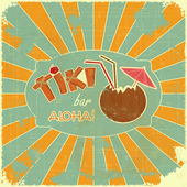Menú del bar tiki diseño retro — Vector de stock