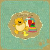 Retro Design Baby Card — Stock Vector