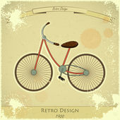 Retro bicycle card — Stock Vector