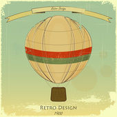Vintage Balloon Retro card — Stock Vector