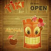 Vintage design hawaii menu — Stock Vector