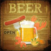 Grunge Design Beer Menu — Stock Vector
