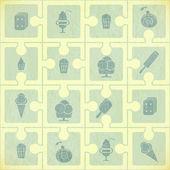 冰淇淋图案 — 图库矢量图片