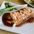 Stock Photo: Vietnamese pork and crab spring roll with sauce