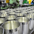Stock Photo: Aluminium Cans in factory warehouse