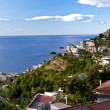 ������, ������: Ravello Amalfi Coast view towards the city of Minori road cro