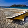 Praia a Mare (Cs) Italy : beach and boat — Stock Photo