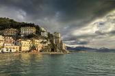 Cetara,italian fishing village,Amalfi coast : Winter landscape — Stock Photo