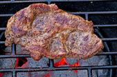 ızgara kavrulmuş domuz eti boyun — Stok fotoğraf