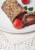 Rollo de chocolate — Foto de Stock