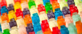 Gummy bears background — Stock Photo