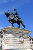 Bronze statue of King Joao I. — Stock Photo