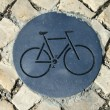 Cycle path sign - Stock Photo