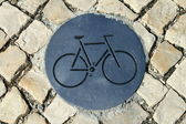 Cycle path sign — Stock Photo
