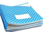 Blue notebooks — Stock Photo