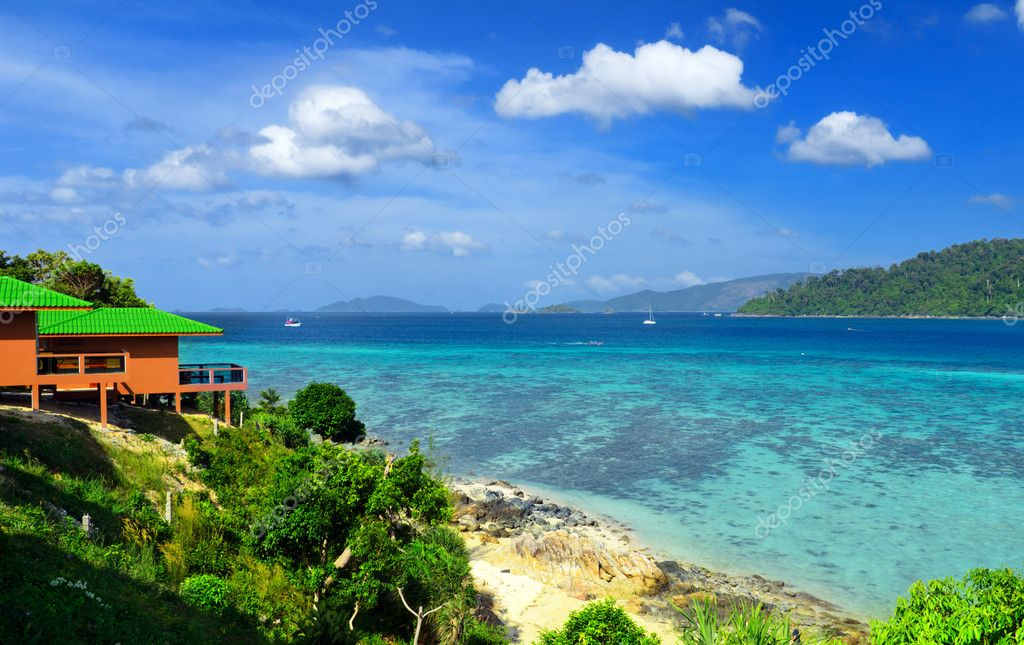 Tropical resort. Red sea view house. — Stock Photo #11131819