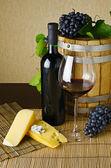 Wine and cheese — Foto de Stock