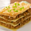 Lasagna, — Stock Photo
