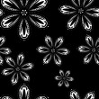 Royalty-Free Stock Vector Image: White flowers on black background