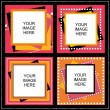 Four frame for photos — Vector de stock #10886445