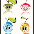 Royalty-Free Stock Vector Image: Fresh funny fruits
