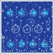 Royalty-Free Stock Vector Image: Eight vector different christmas balls