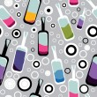 Royalty-Free Stock Vector Image: Colorful bottles on gray background - pattern