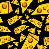 Cheese seamless — Stock Vector