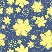 Yellow flowers on blue background — Vetorial Stock