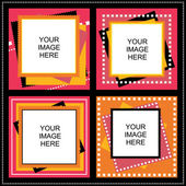 Vier frame voor foto 's — Stockvector