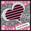 Royalty-Free Stock Vektorfiler: Heart Valentines Day background