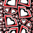 Stockvector : Hearts seamless