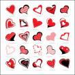 Set of hearts icons — Stock Vector