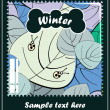 Vector de stock : Winter season