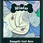 Winter season — Stock Vector